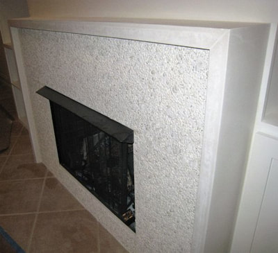 White Nassa Shell Fire Place